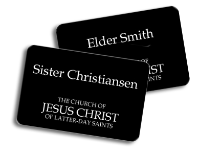 elder and sister name tags